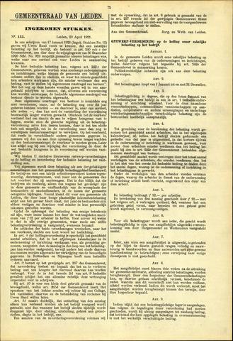 Handelingen van de Raad 1921-04-23