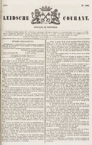Leydse Courant 1875-11-30