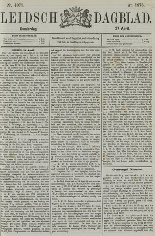 Leidsch Dagblad 1876-04-27