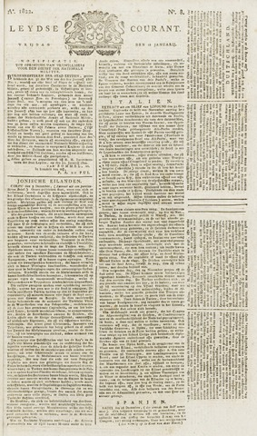 Leydse Courant 1822-01-18
