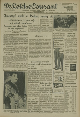 Leidse Courant 1959-09-29