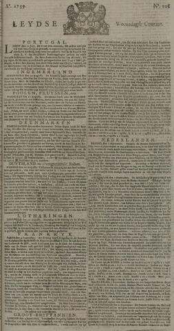 Leydse Courant 1739-09-09