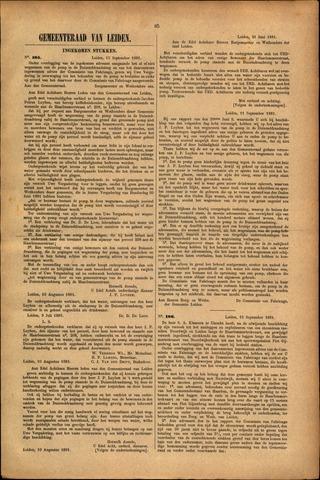 Handelingen van de Raad 1881-09-15