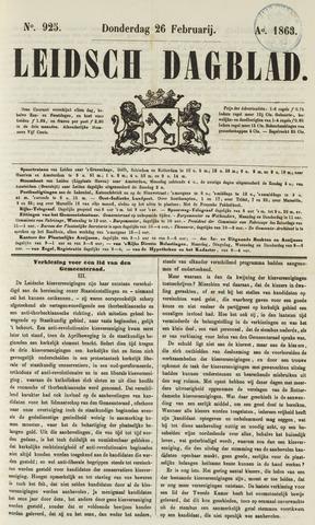 Leidsch Dagblad 1863-02-26