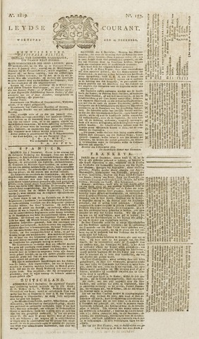 Leydse Courant 1819-12-22