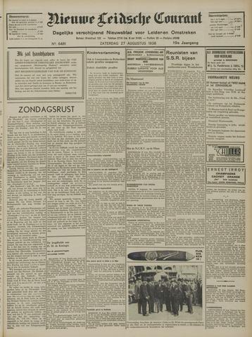 Nieuwe Leidsche Courant 1938-08-27