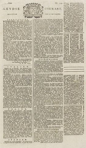 Leydse Courant 1820-09-18