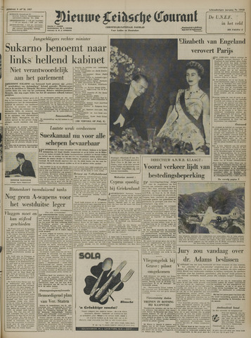 Nieuwe Leidsche Courant 1957-04-09