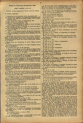 Handelingen van de Raad 1887-09-22