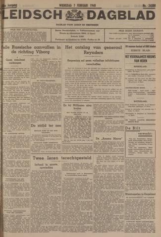 Leidsch Dagblad 1940-02-07