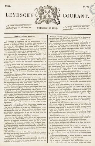 Leydse Courant 1852-06-23