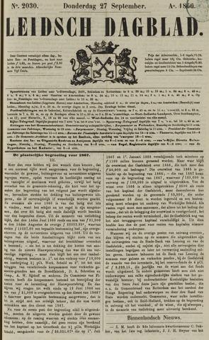 Leidsch Dagblad 1866-09-27