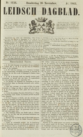Leidsch Dagblad 1863-11-26