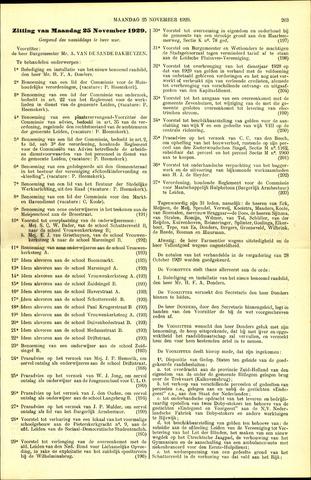 Handelingen van de Raad 1929-11-25