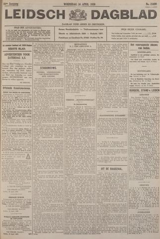 Leidsch Dagblad 1930-04-16