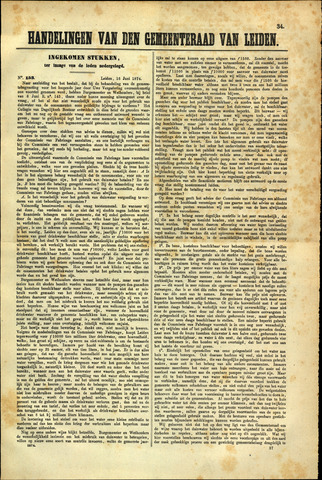 Handelingen van de Raad 1874-06-16