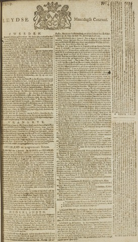 Leydse Courant 1769-01-09