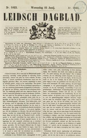 Leidsch Dagblad 1863-06-24