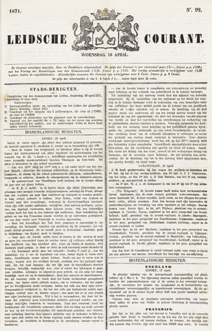 Leydse Courant 1871-04-19