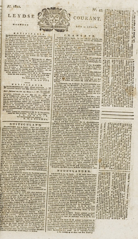 Leydse Courant 1822-04-15