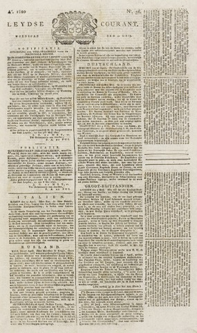 Leydse Courant 1820-05-10