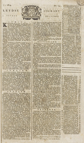 Leydse Courant 1814-11-25
