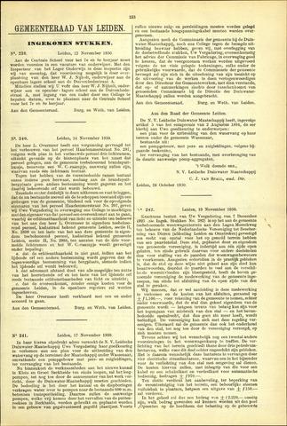 Handelingen van de Raad 1930-11-12