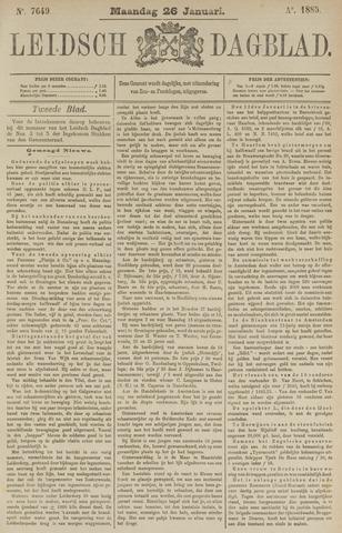 Leidsch Dagblad 1885-01-26