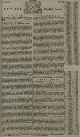 Leydse Courant 1749-04-14