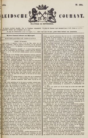 Leydse Courant 1884-09-22