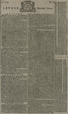 Leydse Courant 1749-02-10