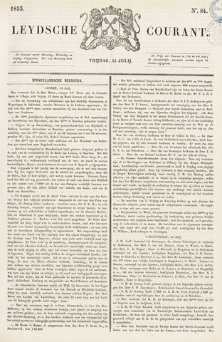 Leydse Courant 1853-07-15