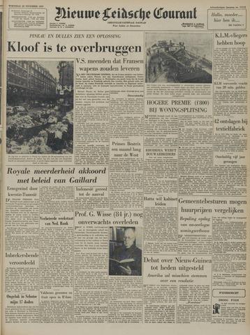 Nieuwe Leidsche Courant 1957-11-20