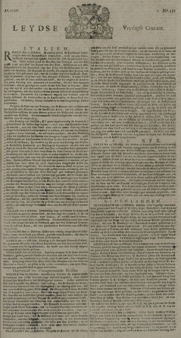 Leydse Courant 1727-10-31