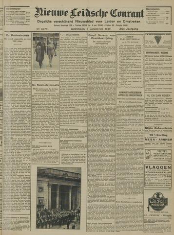 Nieuwe Leidsche Courant 1939-08-09