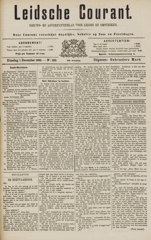 Leydse Courant 1885-12-01