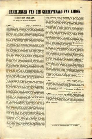 Handelingen van de Raad 1873-10-13