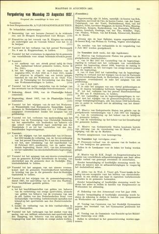 Handelingen van de Raad 1937-08-23
