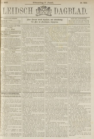 Leidsch Dagblad 1892-06-07