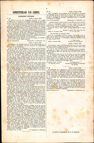 Handelingen van de Raad 1883-01-04