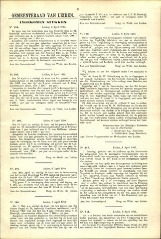 Handelingen van de Raad 1910-04-06