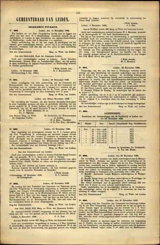 Handelingen van de Raad 1886-11-19