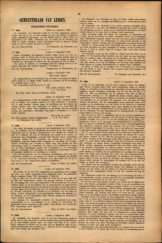 Handelingen van de Raad 1881-09-14