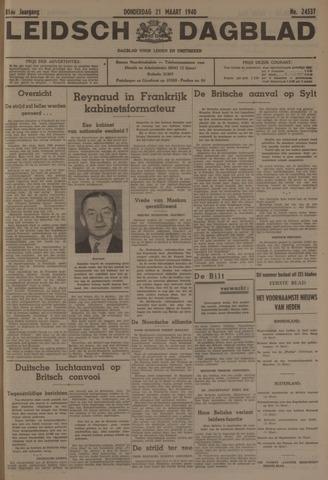 Leidsch Dagblad 1940-03-21
