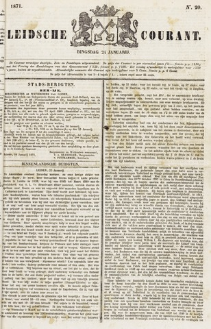 Leydse Courant 1871-01-24