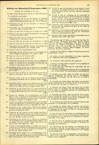 Handelingen van de Raad 1920-09-27