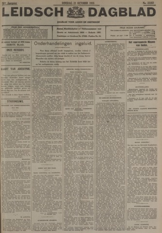 Leidsch Dagblad 1935-10-22