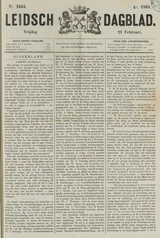 Leidsch Dagblad 1868-02-21
