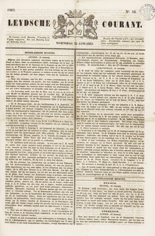 Leydse Courant 1862-01-22