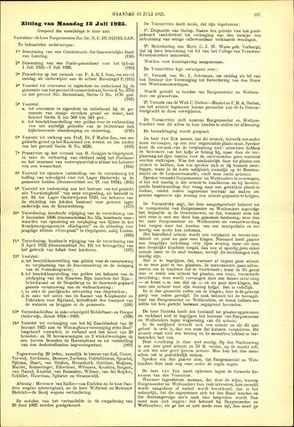 Handelingen van de Raad 1925-07-13
